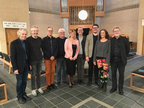 Composers and performers after the premiere in Stavnsholt kirke